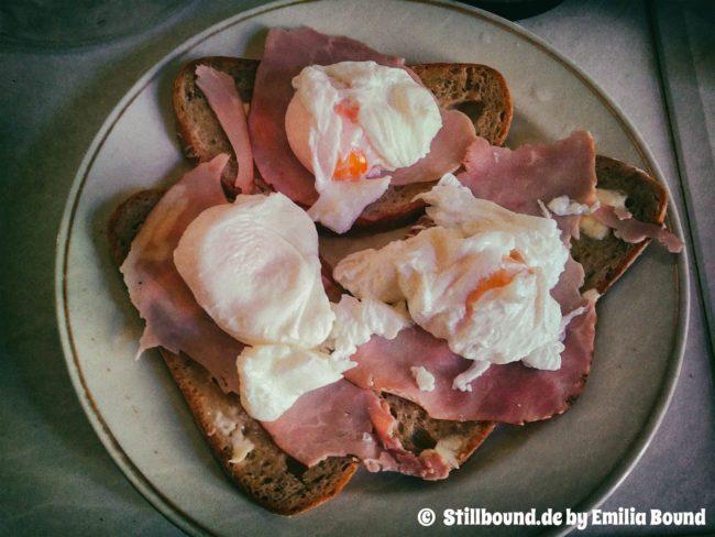 Foto pouchierte, verlorene Eier.