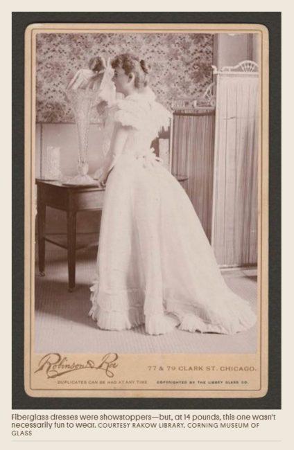 Foto von historischem Kleid aus Glas