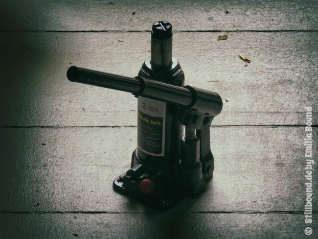 Foto hydraulischer Wagenheber