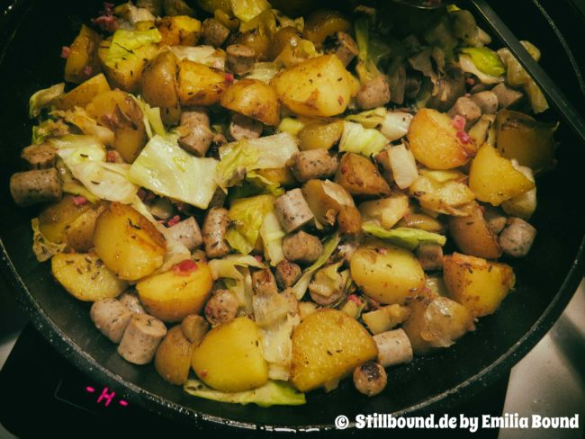 Foto winterliche Kartoffelpfanne