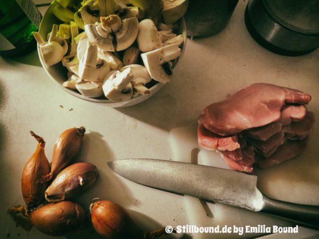 Foto Messer Fleisch