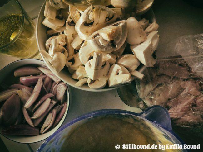 Foto mit Zutaten in der Küche