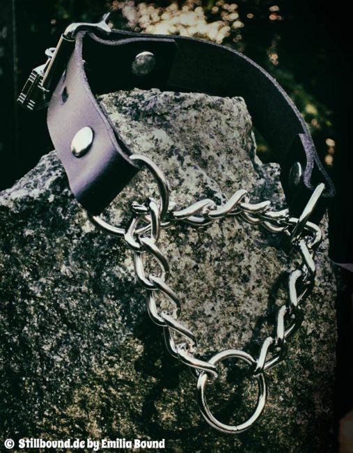 Foto BDSM Würgehalsband abschließbar Petplay