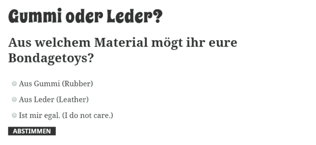 Gummi oder Leder?