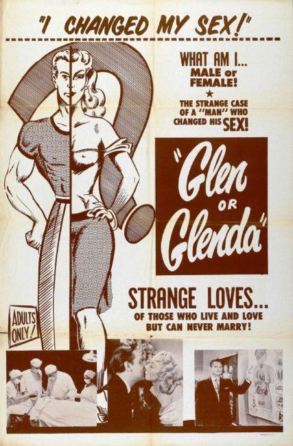 """Filmplakat """"Glen or Glenda"""""""
